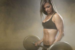 Sexy-Girl-Pesi-Bodybuilding-Sport-Fitness-Motivazionali-Poster-di-Seta-Tessuto-di-Tela-Palestra-pittura-Decorativa